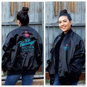 Vintage Casino Jacket Flamingo  Laughlin Nevada XL